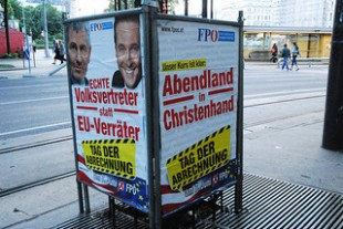 A poster of the Freedom Party in Austria for the European Parliament elections in 2009 (c) Fflickr/Flowerbeetle