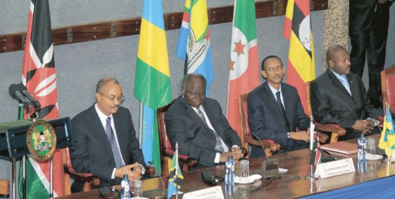 A meeting of EAC leaders in 2009.