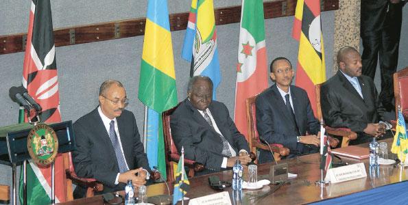 A meeting of EAC leaders in 2009.