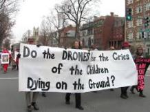 Armed drones also kill civilians, including children. (c) Flickr - Debra Sweet